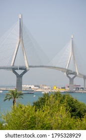 Constitution bridge, called La Pepa, in the Bay of Cadiz, Andalusia. Spain. Europe. July 13, 2020