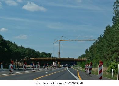 Construciotn Site at a Highway, Mecklenburg, Germany, 20.20.2019