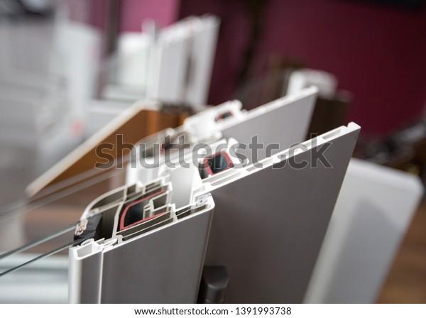 Construction Aluminum Profiles Windows Doors Verandas Stock