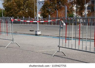 construction area blockade