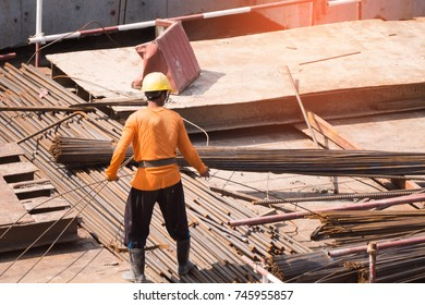 Construction with blurry background