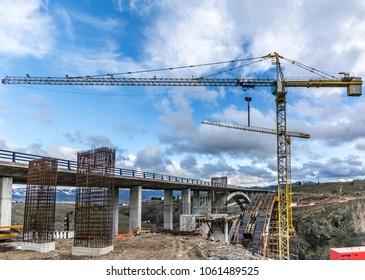 Construction of a bridge in Spain