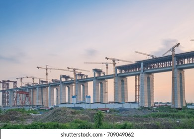 Construction of bridge and traffic network in China