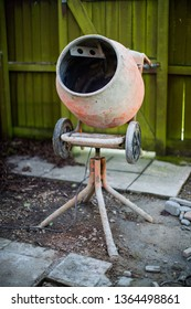 Construction - cement mixer in use - building site