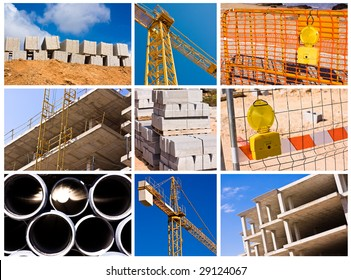 construction collage - high definition photo