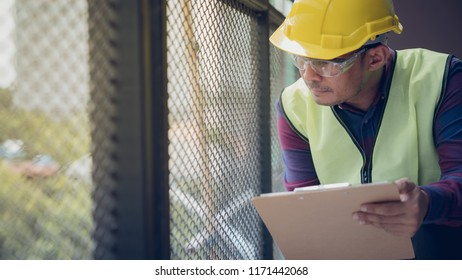 Construction concept , Foreman officer inspector defect about engineer&architect work home building before complete project