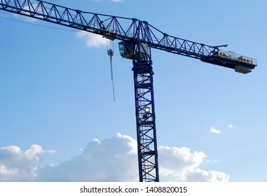 construction crane blue sky tower lifting hoisting industry