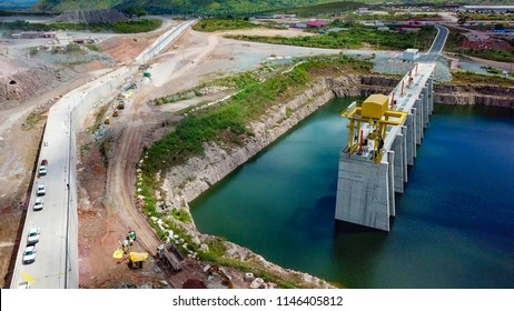 Construction of a Dam in Angola.