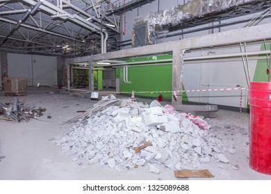 construction debris on the ground