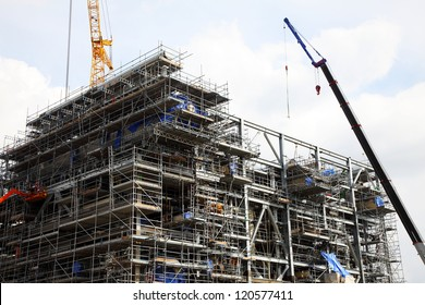 The construction of drilling platform