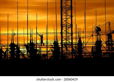 Construction in the dusk