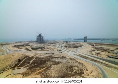 Construction at Eko Atlantic, Lagos, Nigeria