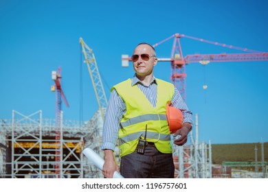 construction engineer  working on building site