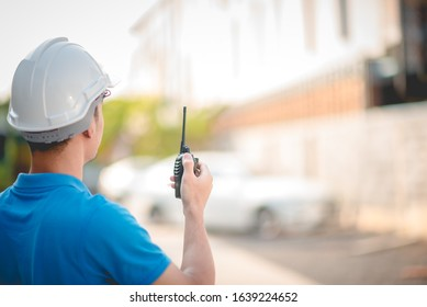 Construction engineers are using radio communications to order work.