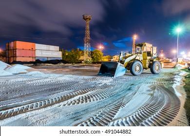 construction equipment on nightshift