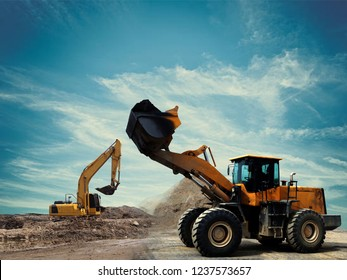 construction equipment on construction site