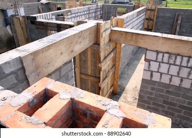 Construction - foundation for a new house