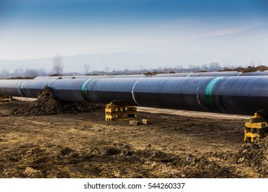 Similar Images, Stock Photos & Vectors of Construction Gas Pipeline