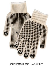 Construction gloves. Isolated