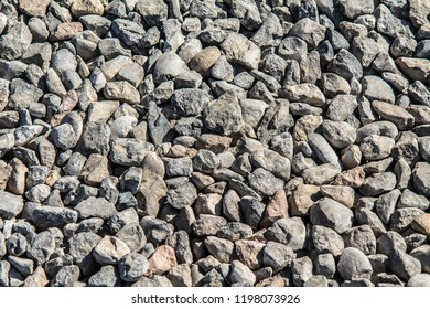 Construction gravel as an abstract background
