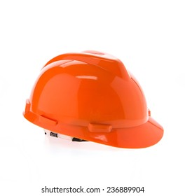 Construction hard hat - safety helmet isolated on white background