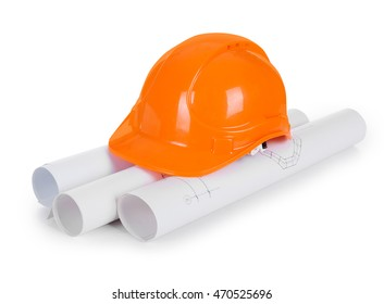 construction helmet with drawings