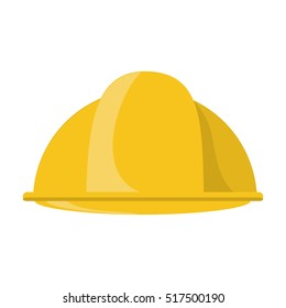 Construction helmet icon in cartoon style isolated on white background. Build and repair symbol stock rastr illustration.