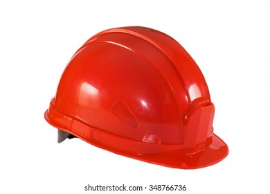 Construction helmet on a white background.