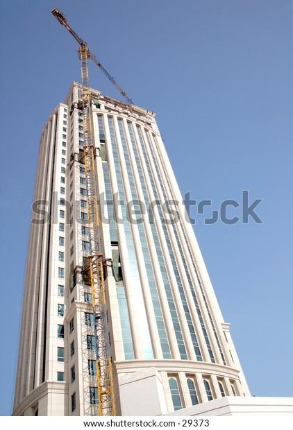 Construction of a high-rise building, Doha, Qatar, 2004.