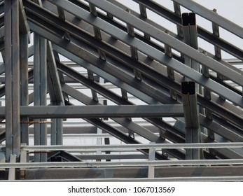 Construction of a house with steel frame