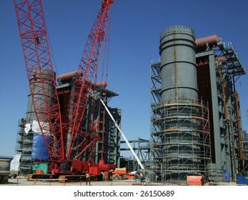 construction of hrsg at new power plant