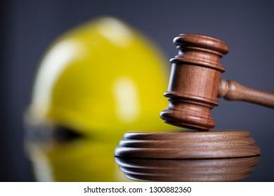 Construction law concept.