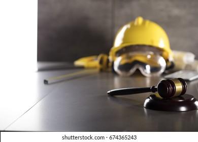 Construction law. Labor law concept.