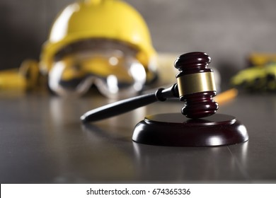 Construction law. Labor law concept.