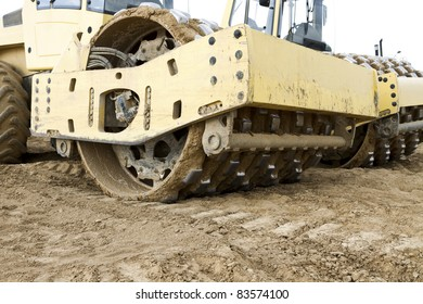 construction machine on building ground