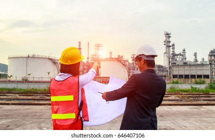 Construction manager and engineer working , discussing plans