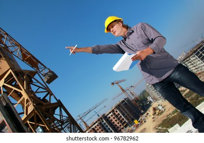 Construction Manager on Construction Site