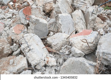 Construction material waste of building deconstruction and demolition
