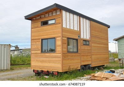The construction of a mini house or tiny house is almost complete and will be  re-located on city land soon.
