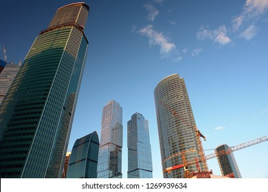 Construction of the Moscow-city business center