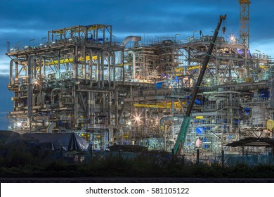 Construction of natural gas at Industrial Estate of Thailand.