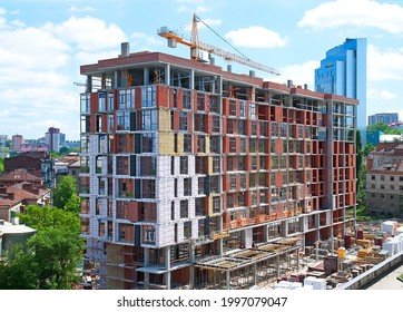 Construction of a new building using modern technologies