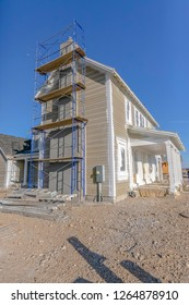 Construction of a new home in Daybreak Utah