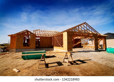 Construction of new home house residence residential building build construct