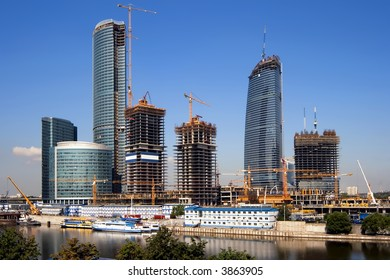 """Construction of a new modern business centre """"Moscow City"""" in Moscow (Russia)"""