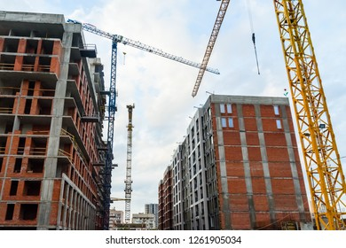 Construction of the new modern residential building