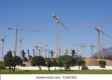 Construction of the new Olympic Stadium,Cape Town, South Africa