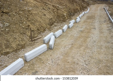 construction of new sidewalk on building site