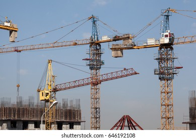 Construction of an Olympic village. Universiade 2017, Almaty, Kazakhstan.