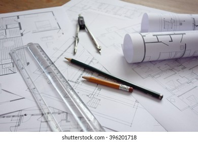 construction plans / architecture background